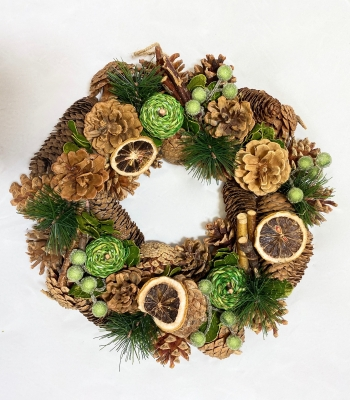 Lemon and Lime Artificial Wreath
